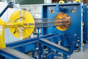 RSM / VSM Korbschweißmaschine zur Fertigung von Vierkantbewehrungen für Ramm- und Bohrpfähle, Stützen und Träger mit oder ohne Konus