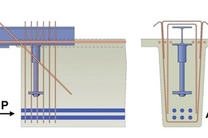 Fig. 9 System solution for stepped supports with double-T slabs [10].