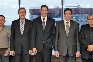 Die fünf Geschäftsführer der Top-Werk Group (v. l. n. r.): Georg Prinzing, Friedrich Krombach, Ralf Beier, Tobias Hess und Richard Scheuerlein