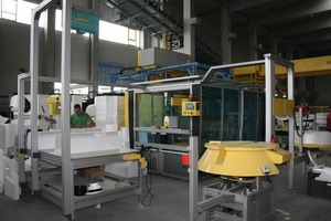 """<span class=""""bildunterschrift_hervorgehoben"""">Fig. 3 </span>The very core of the channel manufacturing line is a saw for 3-D cuttings as they are required for hydraulically optimized connection of the inlets.<br />"""