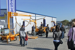 During the open-day event, demonstrations  of large pieces of Probst equipment attracted many interested visitors