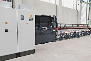 DRA wire straightening and cutting machine for straightening and cutting of reinforcement wire from the coil