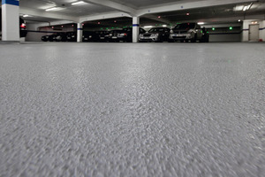 """<div class=""""bildunterschrift_en"""">Now, the tightness property of the coating system for floors<br />protects the reinforced<br />concrete structure against<br />chlorides permanently</div>"""