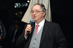 """<div class=""""bildtext_en"""">Rupert Plersch welcomed the participants of the KTI Innovation Days</div>"""