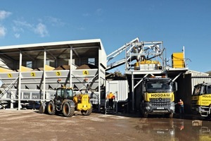 """<div class=""""bildtext_en"""">The static batch plant of Rapid at the Hoddam Contracting plant in Ecclefechan, Scotland</div>"""