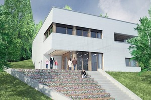 """<div class=""""bildtext_en"""">Esthetic and sustainable: the new environmental education center in the German city of Mainz</div>"""
