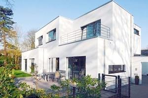 Einfamilienhaus in Hamburg, monolithisch mit Porenbeton gebaut.<br />