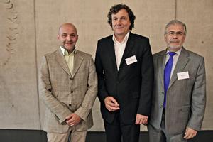 """<div class=""""bildtext"""">Das neu gewählte Präsidium v.l.n.r.: Friedrich Gebhart, Wilfried Röser und Martin Kronimus</div>"""