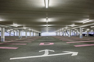 """<div class=""""bildtext_en"""">A view of the new Adidas staff parking structure, without interfering columns and beams</div>"""