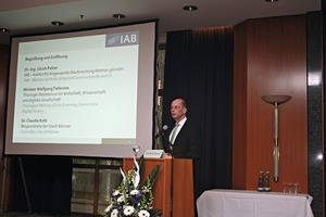 Wolfgang Tiefensee, Minister forEconomy, Science, and Digital Society of Thuringia, was one of thekeynote speakers at this year's IAB Science Days