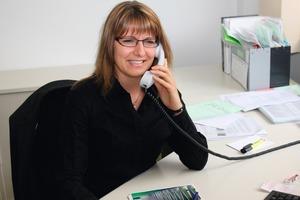 """<span class=""""bildunterschrift_hervorgehoben"""">Fig. 2 </span>Organization Director Stefanie Blank is already preparing for the BetonTage 2012.<br />"""