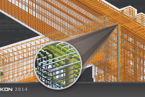 3D reinforcement made with the aid of the software program Strakon