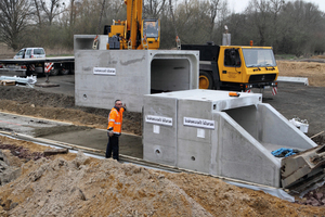 Sonderlösung Rechteckquerschnitt für Entwässerungssystem an der BAB A30