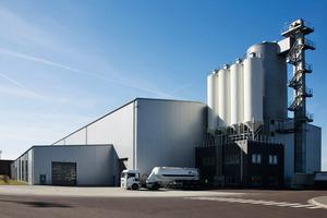Das Werk von WEC Turmbau in Magdeburg, wo Turm-Fertigteile aus Beton für Windenergieanlagen produziert werden<br />