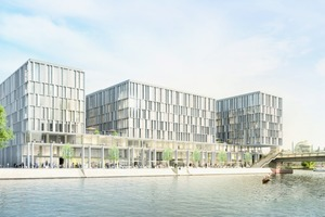 """<div class=""""bildtext_en"""">In the design phase, the architects had to consider many different aspects, including smooth office operation, public access to the waterfront, the surrounding urban structure, and sustainability</div>"""