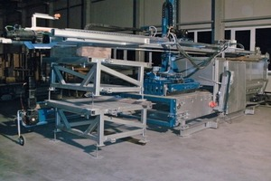 Fig. 2 Mobile Dancing Weight Distresser Type RA 1300 ready  for transportation (truck or 40 container).