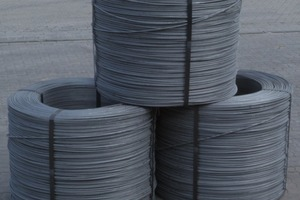 """<span class=""""bildunterschrift_hervorgehoben"""">Fig. 1</span> Reinforcing steel in a coil according to the Filigran approval for the application in precast concrete plants.<br />"""