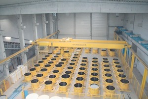 """<span class=""""bildunterschrift_hervorgehoben"""">Fig. 1</span> The curing area and mold pool of the factory is suitable for the production of more than 100 manhole base section per shift. <br />"""
