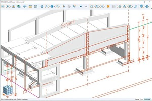 Linking DWG, PDF or 2D elements to the 3D model makes it possible to coordinate various construction trades
