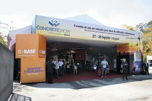 """Die Concrete Show São Paulo gibt einen hervorragenden Überblick über die brasilianische Beton-Industrie. Sie bildet über 20 Bereiche des Beton-Produktionsprozesses ab <a href=""""http://www.concreteshow.com.br"""" target=""""_blank"""">www.concreteshow.com.br</a>"""