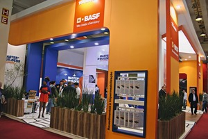 """<div class=""""bildtext_en"""">BASF Master Builders Solutions was one of the largest exhibitors of last year's Concrete Show São Paulo</div>"""
