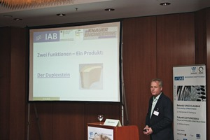 In addition to the lectures given at the podium discussions for Construction Materials and Precast Elements / Concrete Products, interesting technical presentations were also held for Processes and Equipment – such as by Peter Ortmann, Managing Director at Knauer Engineering, on the new Duplex block