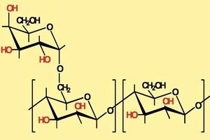 Chemische Struktur des Polysaccharids Guar