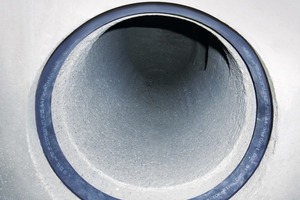 """<span class=""""bildunterschrift_hervorgehoben"""">Fig. 8&nbsp; a to c </span>. The accurately finished manhole bases are delivered to the construction site with the sealings fitted in place, ready for installation. This is the way to produce tight and durable pipe networks.<br />"""