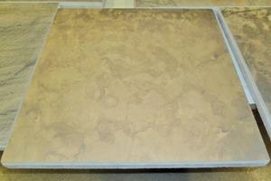 "Concrete slabs enhanced with ""Concrete rock decor"""