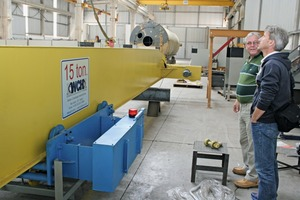 "<div class=""bildtext_en"">BFT Advertisement Manager, Jens Maurus, visiting the production of a 15-ton indoor crane</div>"