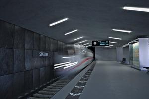 Das Berliner Unternehmen Siut hat Elemente aus UHPC entwickelt. Bei der Herstellung werden in den Beton lichtleitende Fasern eingegossen, die pro Element mit nur einem  LED-Licht erleuchtet werden. Mit den Fasern lassen sich beliebige Schriftzüge oder Symbole auf der Elementoberfläche abbilden