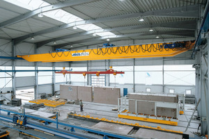 Transport of precast-concrete- elements by the new ABUliner-technology