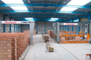 """<span class=""""bildunterschrift_hervorgehoben"""">Fig. 1</span> The Rimatem<sup>®</sup> masonry plant allows to manufacture masonry walls in a fast and efficient way.<br />"""