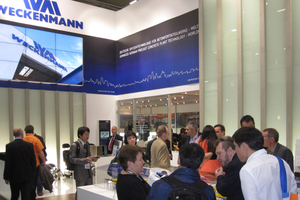 The booth of Weckenmann Anlagentechnik was very well attended too