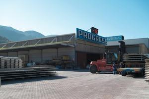 "<span class=""bildunterschrift_hervorgehoben"">Fig. 3</span> The outdoor storage area at the headquarters in Brixen, South Tyrol.<br />"