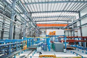 "<div class=""bildtext_en"">With the new precast production line, the Shanghai Baoye Group increases in 2015 the capacity of wall and floor plate production by up to 800,00 sqm</div>"