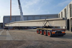 "<div class=""bildtext_en"">This precast roof girder has an impressive length of 44 m and weighs 71 t</div>"