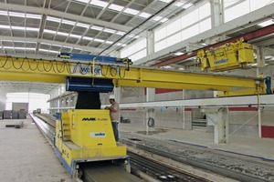 Production of prestressed hollowcore concrete planks on a Max-truder