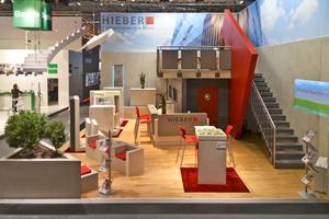 "<div class=""bildunterschrift_en"">The Hieber trade show stand at Bau 2013 was constructed entirely of precast concrete parts</div>"