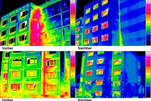 """<span class=""""bildunterschrift_hervorgehoben"""">Fig. 7</span> Before/after images impressively demonstrate the success of subsequently add-ed thermal insulation."""