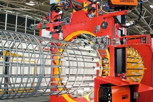 "<span class=""bildunterschrift_hervorgehoben"">Fig. 4</span> Generally used for the production of cylindrical and polygonal cages – the welding robot presented belongs to the latest generation of MEP-machines.<br />"