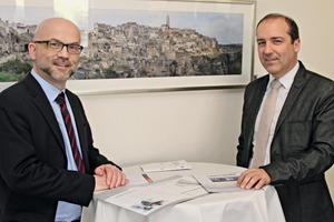 "<div class=""bildtext_en"">Hubert Rapperstorfer (right) with Christian Jahn, Editor-in-chief of BFT International</div>"
