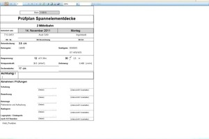 The quality control plan, a document generated in a fully automated process. Quality check for production<br />