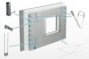 Various connections for precast sandwich walls
