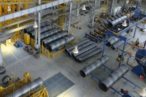 """<div class=""""bildtext_en"""">The manufacture of steel cylinders and the tightness testing of the same under controlled conditions</div>"""