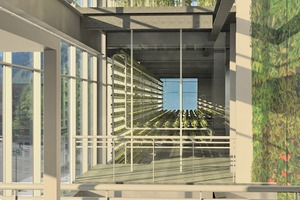 """<div class=""""bildtext_en"""">Vertical Harvest is a three-story building accommodating a vertical greenhouse with a useful area of approx. 3,960 m². The plot is situated on an unused premises south of a parking garage in Jackson, Wyoming, USA </div>"""