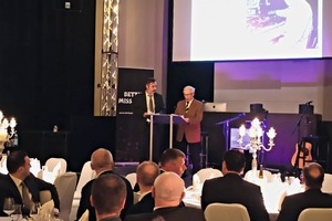 "<div class=""bildtext_en"">Karl Rampf invited the many ­attendees of the anniversary event to embark on a journey through the 90 years of history of this long-­established German business</div>"