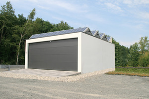 "<div class=""bildunterschrift_en"">Scheme: Solar modules from Akkon GmbH on the roof of a Zapf garage </div>"