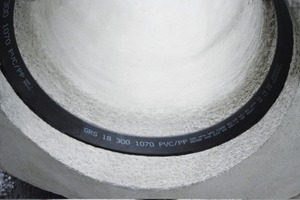 "<span class=""bildunterschrift_hervorgehoben"">Fig. 8 a to c </span>. The accurately finished manhole bases are delivered to the construction site with the sealings fitted in place, ready for installation. This is the way to produce tight and durable pipe networks.<br />"