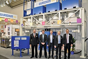 The trade fair team of Würschum presented the color-mix innovation at this year's Bauma